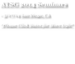 ATSG 2014 Seminars - 5/17/14 San Diego, CA *Please Click Dates for More Info*